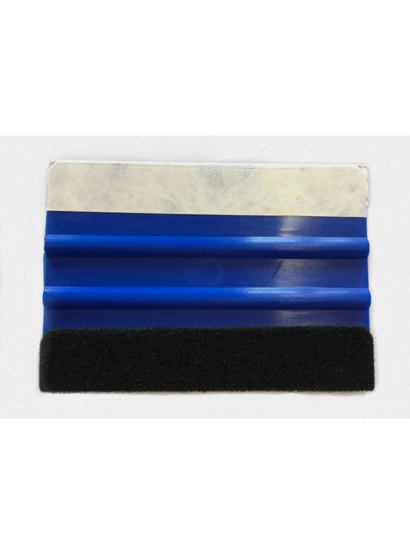 Wrap Star Blue squeegee with felt edge and Tyvekkante