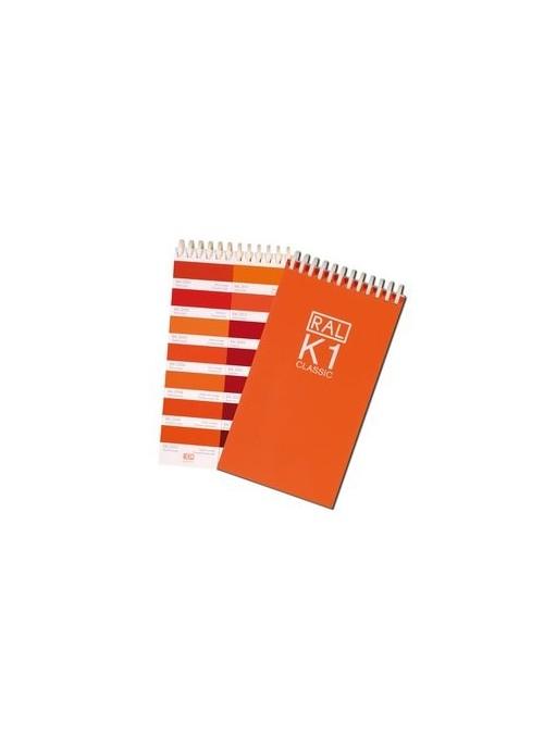 RAL Spiralblock mit 213 RAL CLASSIC Farben    14 Farben pro Seite  Größe: 10